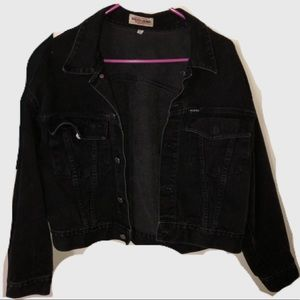 Guess Jean Black Denim Jacket XL vintage